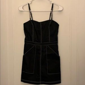 Urban Outfitters black with white stitching dress